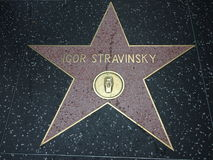 Igor Stravinsky star in hollywood Stock Image