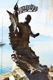 Igor Stravinsky statue at Geneva lake, Montreux Royalty Free Stock Photography