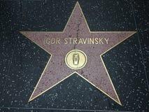 Igor Stravinsky-Stern in Hollywood stockbild
