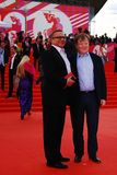 Igor Ugolnikov and Igor Butman at XXXVI Moscow International Film Festival Stock Photos