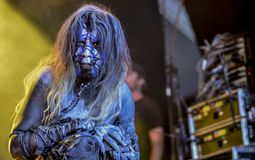 Igorrr live in concert 2017. Initially influenced by the likes of Meshuggah, Chopin, Cannibal Corpse, Bach, Domenico Scarlatti, Taraf de Haidouks and Aphex Twin Royalty Free Stock Photos