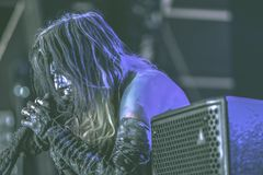 Igorrr live in concert 2017. Initially influenced by the likes of Meshuggah, Chopin, Cannibal Corpse, Bach, Domenico Scarlatti, Taraf de Haidouks and Aphex Twin Stock Photography