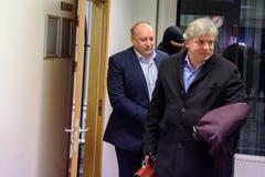 Igors Volkinsteins a détenu par le bureau KNAB de prévention de corruption image libre de droits