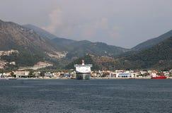 Igoumenitsa port with cruiser. Greece Stock Photo