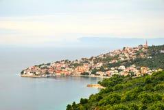 Igrane village and sea in Croatia Stock Photos