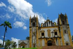 Igreja诺萨Senhora做卡尔穆 奥林达, Pernambuco,巴西 图库摄影