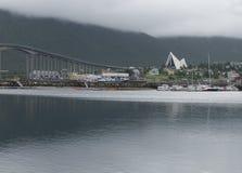Igreja ártica da catedral de Tromso em Noruega Imagem de Stock