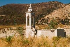 Igreja abandonada inundada de st Nicolas na área de Alassa em Chipre Fotos de Stock Royalty Free