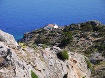 Igreja acima do mar Fotos de Stock Royalty Free
