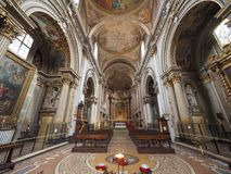 Igreja aka San Filippo Neri de Madonna di Galliera na Bolonha fotos de stock