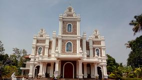 A igreja Alangad de St Mary fotografia de stock royalty free