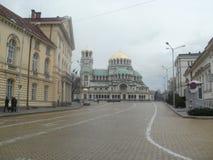 Igreja Alexander Nevski em Sófia imagens de stock