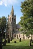 Igreja & cemitério Fotografia de Stock