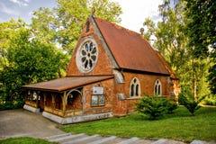 Igreja anglicana da igreja de Cristo - Marianske Lazne - República Checa fotografia de stock