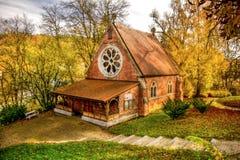 Igreja anglicana da igreja de Cristo - Marianske Lazne - República Checa imagens de stock
