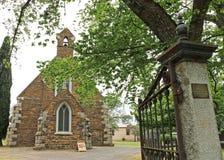 A igreja anglicana herança-listada da trindade santamente de Maldon (1861) é uma estrutura gótico do renascimento do xisto local  Fotografia de Stock Royalty Free