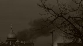 Igreja ardente Lote do fumo Sepia filme