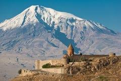 Igreja arménia antiga Khor Virap fotografia de stock royalty free