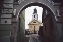 Igreja atholic do  antigo bonito de Ñ em Vilnius imagem de stock royalty free