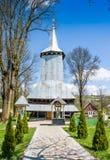 A igreja ativa a mais velha em Repynne Transcarpathia ucrânia Fotografia de Stock Royalty Free
