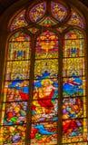 Igreja aumentada Schlosskirche Witten de Jesus Stained Glass All Saints imagem de stock royalty free