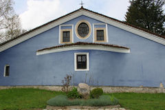 Igreja azul fotografia de stock royalty free