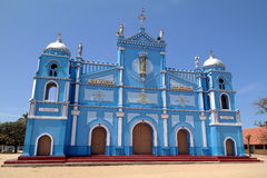 Igreja azul Fotos de Stock Royalty Free