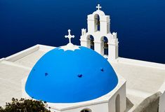 Igreja azul da abóbada imagens de stock