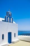 Igreja azul da abóbada fotografia de stock