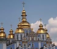 Igreja azul em Kiev Fotografia de Stock Royalty Free