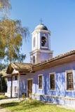 Igreja azul na cidade do renascimento de Koprivshtiza Fotografia de Stock Royalty Free