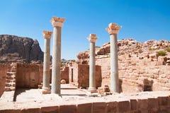 Igreja azul, PETRA, Jordão Fotos de Stock Royalty Free
