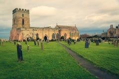 Igreja Bamburgh Inglaterra do St Aidans imagem de stock
