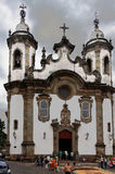 Igreja barroca Sao Joao del Rei de Carmo fotos de stock