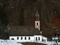 A igreja barroco bonita sul de Tirol com specifil muito grande para igrejas tirolesas abobada Itália Foto de Stock Royalty Free