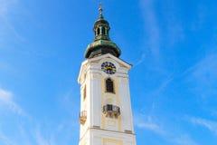 Igreja barroco de Freistadt, Áustria imagens de stock
