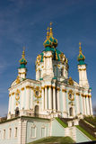 A igreja barroco de St Andrew bonito Kiev, Ucrânia Imagens de Stock