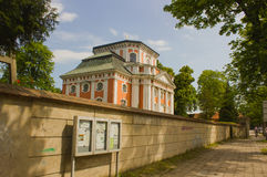 Igreja barroco - Schlosskirche Buch - em Alt Buch Berlim Foto de Stock Royalty Free