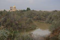 Igreja, Bethany Beyond Jordânia imagem de stock