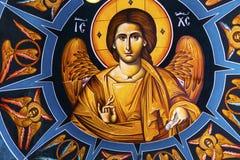 Igreja Bethany Beyond Jordan de Jesus Fresco Dome Greek Orthodox fotos de stock