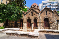 A igreja bizantina de Panaghia Kapnikarea Imagens de Stock Royalty Free