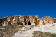 Igreja bizantina no vale Turquia de Phrygian Fotografia de Stock