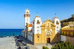 Igreja bonita Tenerife do de Candelaria da basílica, Ilhas Canárias, Espanha fotografia de stock
