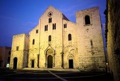 Igreja branca do Romanesque Fotografia de Stock