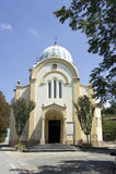 Igreja branca em Bubbio Imagens de Stock Royalty Free