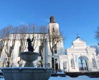 Igreja branca, Lituânia Fotografia de Stock Royalty Free