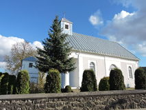 Igreja branca, Lituânia Foto de Stock