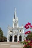 Igreja branca, Samut Songkhram, Tailândia Foto de Stock Royalty Free