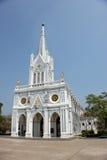 Igreja branca, Samut Songkhram, Tailândia Imagem de Stock