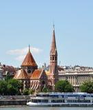 A igreja Calvinistic do centro urbano de Budapest Fotografia de Stock